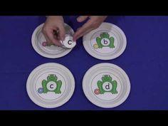 Frog Paper Plate Letter Sorting