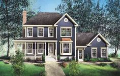 House plans - Two-storey house - 20561