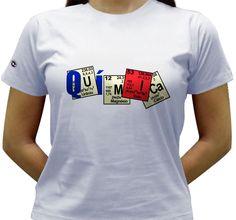 Camiseta Química - Baby-look