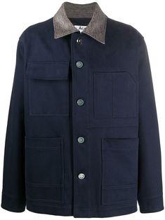 Acne Studios boxy-fit Shirt Jacket - Farfetch Milan Fashion Weeks, New York Fashion, Paris Fashion, Stockholm Street Style, Paris Street, Blue Is The Warmest Colour, Shirt Jacket, Workout Shirts, Acne Studios
