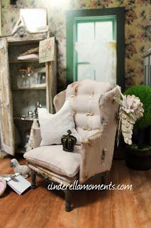 Mrs. Gruyere and Vintage Tattered Style Dollhouse Furniture