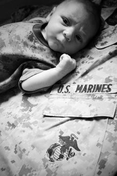 Baby Marine. Would be so cute with a police uniform as well