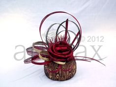 Flax flowers by Artiflax arranged in a NZ Ponga vase by Fernwood NZ