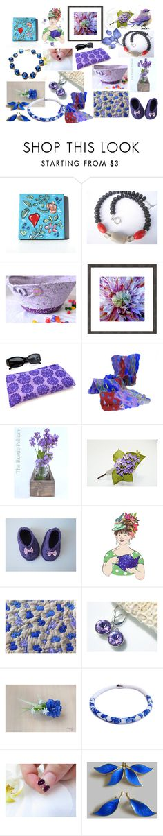 """""""Spring Blues"""" by anna-recycle ❤ liked on Polyvore featuring Rustico, MATÌ, modern, rustic and vintage"""