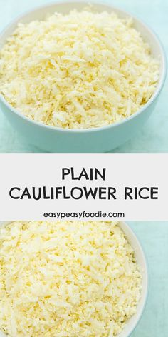 Plain Cauliflower Rice is a recipe you NEED to have in your repertoire. This easy peasy side dish is packed full of goodness, yet low in carbs, calories and fat… and it takes less than 10 minutes to make! Perfect for when time is short, but you still want to eat well. #cauliflower #cauliflowerrice #plaincauliflowerrice #vegan #vegetarian #glutenfree #dairyfree #healthyfood #lowcarb #lowcalorie #lowfat #easymidweekmeals #midweekmeals #easydinners #dinnertonight #dinnertonite #easypeasyfoodie Side Recipes, Easy Dinner Recipes, Great Recipes, Favorite Recipes, Vegan Vegetarian, Vegetarian Recipes, Healthy Recipes, Healthy Food, Cauliflower Recipes