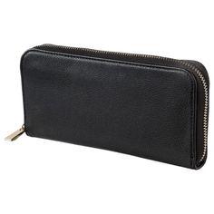 Merona® Solid Zip Around Wallet - Black
