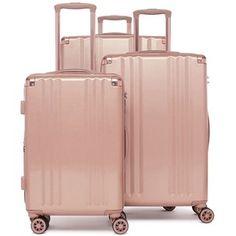 1ad424d65 Calpak Ambeur 3-Piece Metallic Luggage Set Malas De Viagem, Coisas Fofas,  Maquiagem