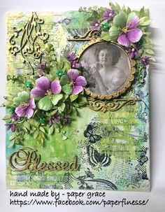 Paper Grace: Blessed- mixed media canvas
