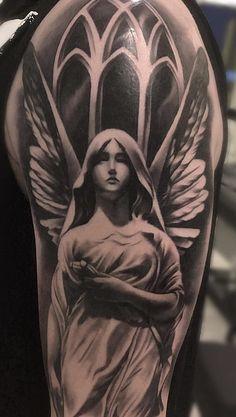 80 Fotos de tatuagens masculinas no braço | TopTatuagens Dove Neck Tattoo, Angel Tattoo Arm, Wolf Tattoo Forearm, Guardian Angel Tattoo, Neck Tattoo For Guys, Ems Tattoos, Dove Tattoos, Sleeve Tattoos, Angel Tattoo Designs