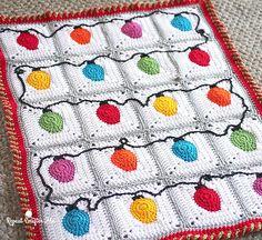 Ravelry: Christmas Lights Blanket pattern by Sarah Zimmerman