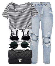 """#14787"" by vany-alvarado ❤ liked on Polyvore featuring WithChic and Chanel"