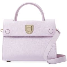 Dior Women's Diorever Mini Leather Tote - Purple (€2.540) ❤ liked on Polyvore featuring bags, handbags, tote bags, purple, handbags totes, leather purses, purple leather handbag, mini tote and purple purse