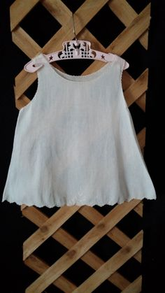 Baby Doll Slip Dress Scalloped Detail And by frankiesfrontdoor, $21.00