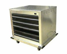 "Carter-Hoffmann DF2620-4 Holding Cabinet by Carter Hoffmann. $3025.20. Carter Hoffmann DF2620-4 1/2-Size Heated Holding Cabinet, Side Load, 8-Sheet Pan Capacity. Holding Cabinet heated doorless stackabale 1/2 size individually heated shelves electronic controls built-in food removable covers capacity (8)12""x20x2.5 or (4)18""x26"" sheet pans side loaded stainless steel construction 3"" casters 120v/60/1-ph 12.5 amps 1"