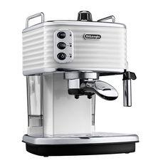 Full view of the De'Longhi Scultura - ECZ351.W Coffee Machine, White