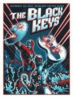 INSIDE THE ROCK POSTER FRAME BLOG: The Black Keys Australian & New Zealand 2012 tour posters are now available