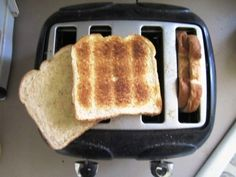 Want the perfect sandwich? Try to toast two slices of bread in one toaster slot for perfectly crisp outsides and soft, delicious insides. (But be careful!)