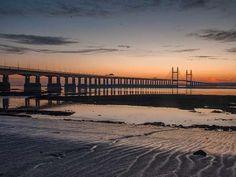 Severn Bridge at Dusk, Wales, UK