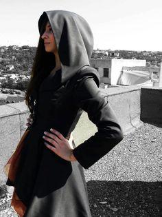I would rock this sooo hard <3 miranda jacket BLACK GREY NAVY by LauraGalic on Etsy