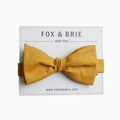 Mustard Chambray bow tie by FoxandBrie on Etsy, $35.00