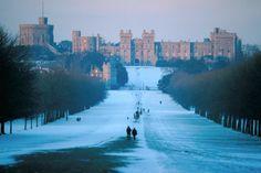 Inverno no Castelo de Windsor,