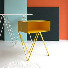 Robot side table in yellow #andnewfurniture