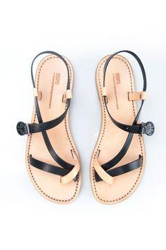 sandaler med högt skaft