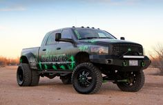 Check out the reaper, a 2006 Dodge Ram Mega Cab that is far from ladylike. See this beautifully built Cummins powered Dodge Duallie owned by Kenda Proper.