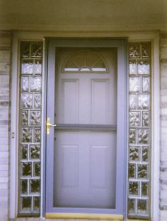 Entry door sidelights with glass block can add security privacy front door sidelight security google search planetlyrics Gallery