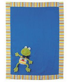 Sigikid, Fortis Frog micro fleece blanket blue with striped edging Baby's First Christmas Gifts, Babies First Christmas, Soft Baby Blankets, Blue Blanket, Kids Rugs, Gift Ideas, Kid Friendly Rugs, Gift Tags