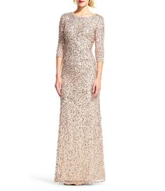 Shop for Adrianna Papell 3/4 Sleeve Sequin Beaded Column Gown at Dillards.com. Visit Dillards.com to find clothing, accessories, shoes, cosmetics & more. The Style of Your Life.