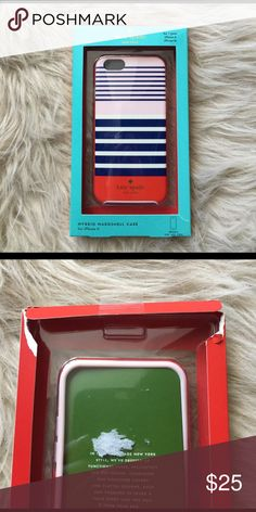 🆕 Kate Spade iPhone 6/6s case Hybrid hard shell case from Kate Spade! Pink, blue and red stripes. Great spring colors! Never used but there is damage to the box, no damage on the phone case. kate spade Accessories Phone Cases