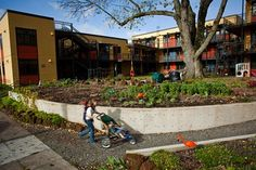 Daybreak, an intergenerational cohousing development in North Portland with accessible condos - 2010 Livable Communities Awards