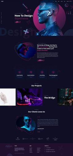Creative Web design images on Designspiration Layout Site, Website Layout, Layout Design, Creative Web Design, Best Web Design, Dj Website, Music Website Templates, Banners, Music Websites