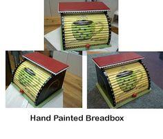 Handmade Hand Painted bread box.  Sold