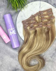 Reduce your hair extension drying time in HALF with & add in the VOLUME and TEXTURE with powder spray! This combo for hair extensions is LIFE . Hair Extension Salon, Mane Addicts, Hair Trends, Hair Goals, Hair Extensions, Your Hair, Cool Hairstyles, Hair Beauty, Texture