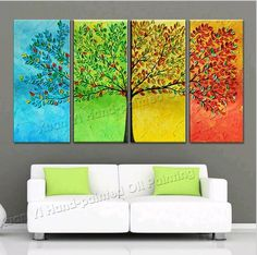 4 Seasons Oil Painting Promotion-Shop for Promotional 4 Seasons ...
