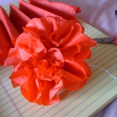 Paper flowers:) super easy