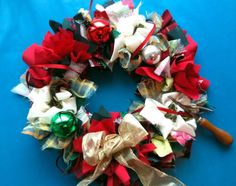 Make a Christmas Rag Wreath