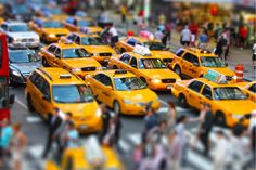 New York Yellow Cabs like toys by Amador Esquiu on 500px