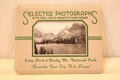 Vintage Estes Park & Rocky Mt. National Park Selected Photographs Souvenir Mailer on Etsy, $14.99