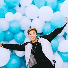 """930.9k Likes, 4,169 Comments - Cameron Dallas (@camerondallas) on Instagram: """"Never thought a pool of balloons would hold me up !!! """""""