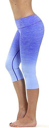 Prolific Health Fitness Power Flex Yoga Pants Leggings - All Colors - XS - XL (Small, Capri Ombre ROYAL BLUE) - http://astore.amazon.com/fashiononlineshop-20/detail/B01DOJ3HI0
