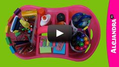 """on In this video, I show you how to setup a homework organization caddy for students for back-to-school! A """"homework organization caddy"""" is where you have all of the school … Homework Caddy, Homework Area, Homework Station, Study Desk Organization, School Supplies Organization, Organization Hacks, Organizing School, Office Supplies, Organizing Tips"""