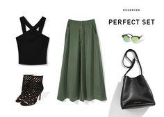 Perfect Set Reserved 16' #khaki#green#black