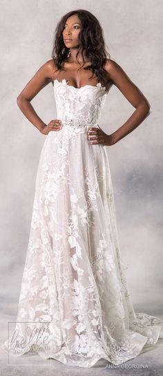 Anna Georgina 2019. Flower Wedding DressesWedding ... 416b7199a135