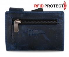 Kartenetui Secwal Antikleder Hunter blau RFID Ausleseschutz - Bags & more Card Holder, Wallet, Cards, Blue, Handmade Purses, Map, Purses, Diy Wallet, Purse