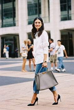 How to Wear a Men's Shirt Like a Fashion Girl | StyleCaster