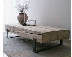 Coffee table 'Solid' is an industrial coffee table with a combination of old, .,Coffee table 'Solid' is an industrial coffee table with a combination of old, naturally weathered wood and a steel frame. These tables are handmade. Decor, House Interior, Living Room Decor, Furniture, Home, Furnishings, Interior, Diy Furniture, Coffee Table