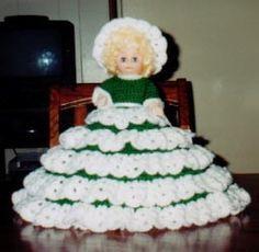 CAROLINE free bed doll crochet pattern for 13 inch doll